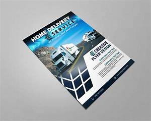 Home, Delivery, Service, Flyer, Free, Psd, Template, U2013, Graphicsfamily