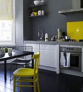 20 idees deco pour une cuisine grise deco coolcom for Idee deco cuisine avec deco cuisine grise