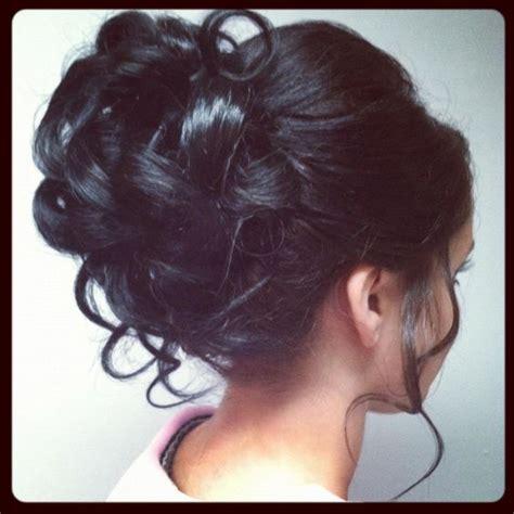 cute curly hair bun wedding hair pinterest updo