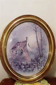 home interior prints vintage home interior cottage with oval gold frame