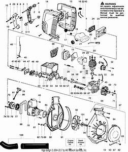Poulan Sb180bv Gas Blower Parts Diagram For Blower Assembly