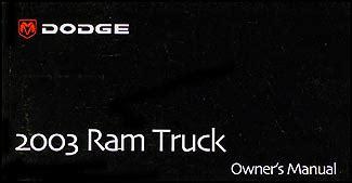online car repair manuals free 2003 dodge ram 1500 spare parts catalogs 2003 dodge ram pickup truck owner s manual original for gas vehicles