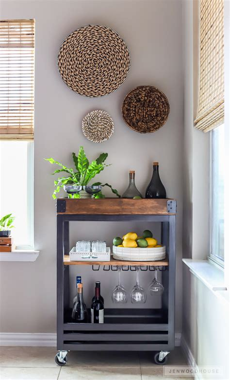 Diy Bar by How To Build A Diy Bar Cart With A Rustic Industrial Look
