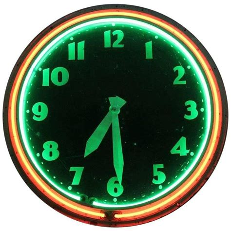 lighted clocks for sale large 20th century neon clock by modern clock advertising