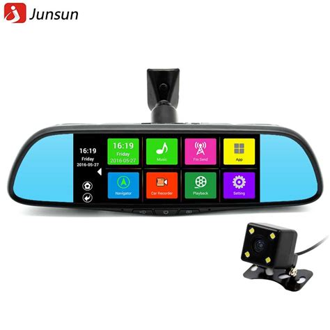 car dvr buy junsun 7 quot touch special car dvr mirror gps