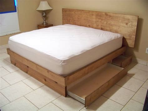 Bed Frame With Attached Nightstands by Handmade Storage Platform Bed By Scott Design Custommade Com