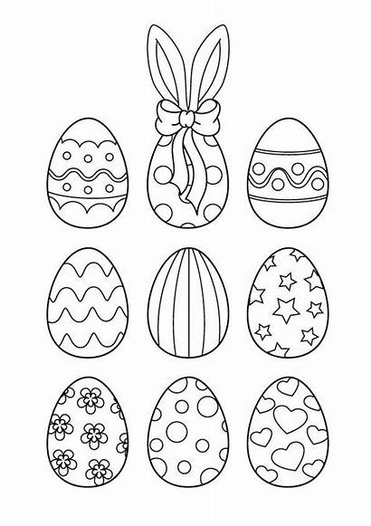 Coloring Colorear Pascua Easter Eggs Malvorlagen Egg