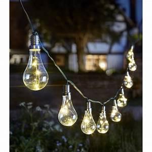 Guirlande Solaire Exterieur : guirlande solaire 10 ampoules eureka solairepratique ~ Nature-et-papiers.com Idées de Décoration