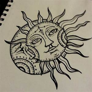 sun drawing tattoo moon design | ink | Pinterest | Tattoo ...