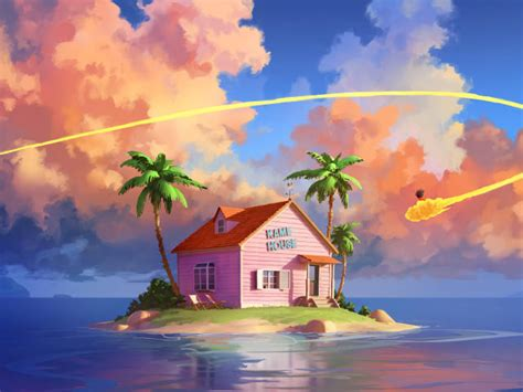 kame house dragon ball  wallpaper hd artist