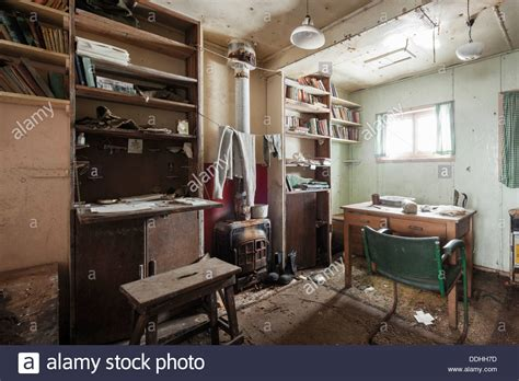 Living Room Station by Abandoned Research Station Living Room Stock Photo