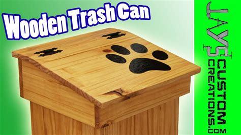 wooden trash bin plans  plans diy