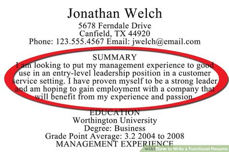 how to write a functional resume with sle resumes