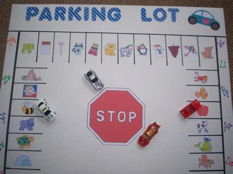 parking lot alphabet lettersound literacy match game