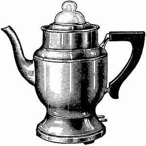 Vintage Coffee Pot Image | Clip art, Graphics and Towels