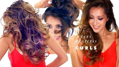 Lazy Heatless Curls Overnight Hairstyle #2
