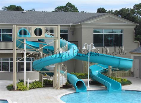 Private Swimming Pool Fiberglass Water Slide For Home