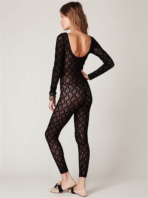 people lace catsuit  black lyst