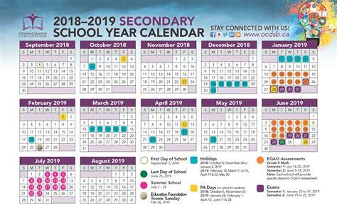 school year calendar approved ottawa carleton district