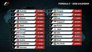 Grand Prix F1 2018 Calendrier : formula 1 2018 calendar 21 circuits calendario y circuitos f1 2018 youtube ~ Medecine-chirurgie-esthetiques.com Avis de Voitures