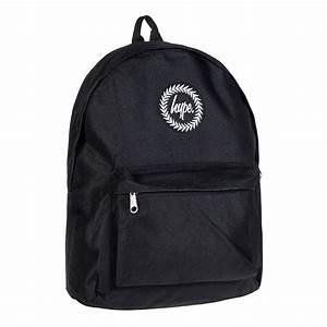 Hype Black Backpack School Bag Unisex Rucksack Hype UK
