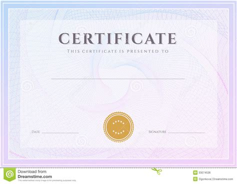 certificate diploma template award pattern completion
