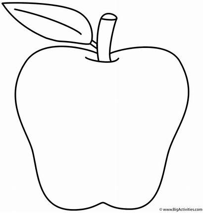 Coloring Alphabet Letter Apple Pages Printable Bigactivities