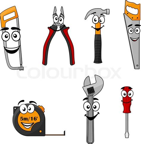 set  cartoon diy hand tools  stock vector