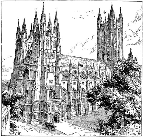 canterbury cathedral clipart