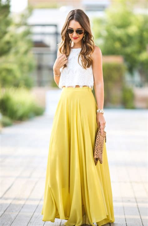 25+ best ideas about Yellow Maxi Skirts on Pinterest | Maxi skirts Yellow maxi and Bohemian ...