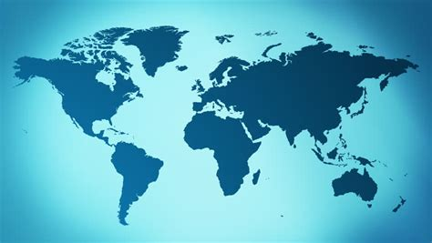 Stock Video Clip Of Blue Presentation Background World Map