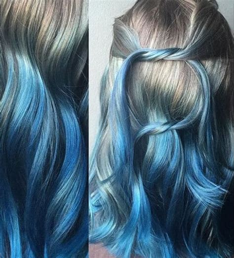 blue ombre hair  gorgeous ideas    lovely