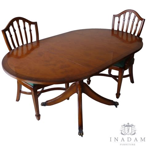 inadam furniture pembroke dining table mahogany yew
