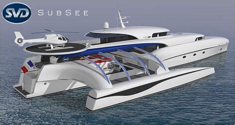 submersible well 69m trimaran yacht project subsee development at