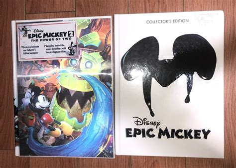 Epic Mickey 1 And 2 Collector Edition Guides Hardcover Prima