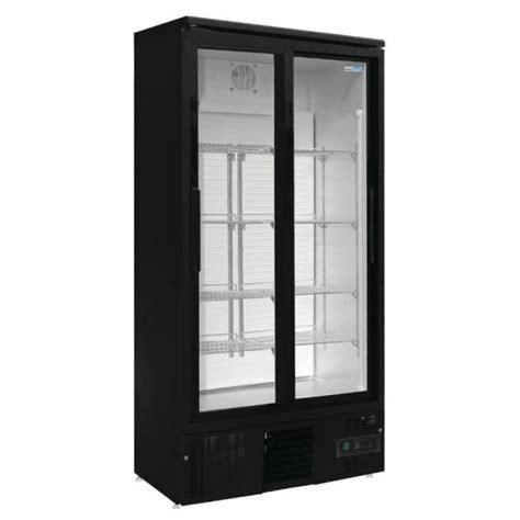 armoire 224 boissons noir 2 portes coulissantes vitr 233 es europrojet promocold