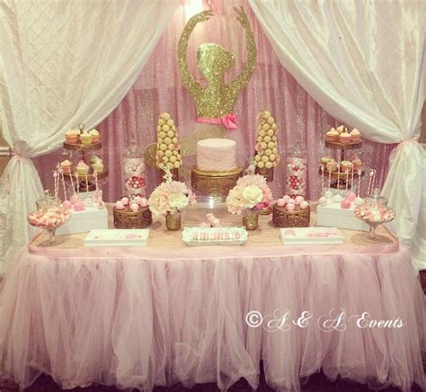 ballerina baby shower party ideas   dessert tables