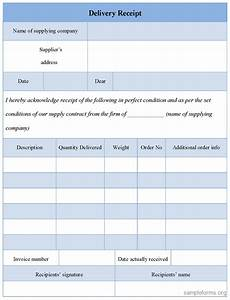 image gallery delivery form With cargo receipt template