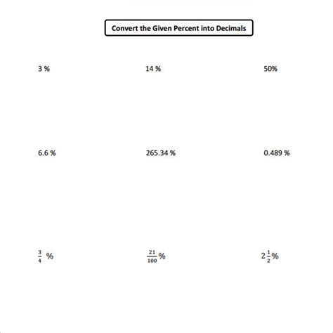 math goodies percent worksheet decimal fractions and