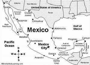 Mexico Map  Quiz Printout