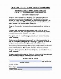 Mississippi Minor Child Power of Attorney Form Power of