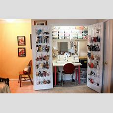 Sewing Closet Organizer  When She Is Done She Just Closes
