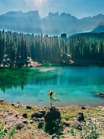 Lakes Dolomites Am