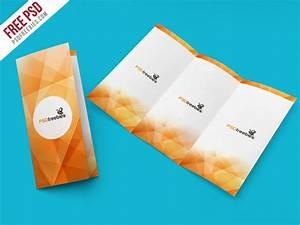 Tri-Fold Brochure Mockup PSD Template | PSDFreebies.com