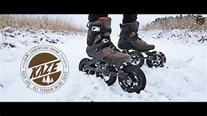 Snow Downhill Skating On Powerslide Kaze Suv 150 Off Road