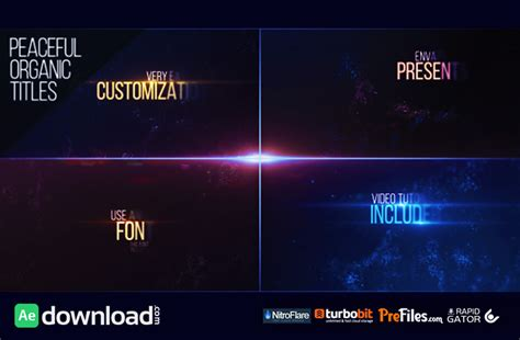 Free After Effects Title Templates by Peaceful Organic Titles Videohive Free Free