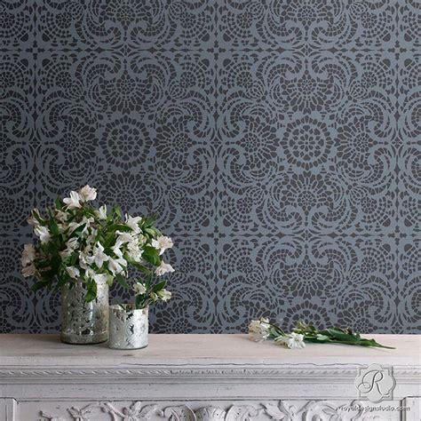 formal dining room decorating ideas esperanza lace tile stencil royal design studio stencils