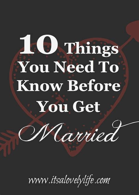 10 Things You Need To Know Before You Get Married  It's A