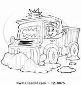 Snow Plow Coloring Pages Truck Clipart Driver Plough Waving Illustration Outlined Happy Royalty Visekart Vector Printable Getcolorings Circle Retro Print sketch template