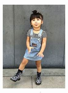 little girls fashion | denim overalls dress, black and ...